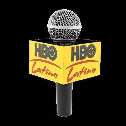 HBO LATINO Rectangle Mic Flag
