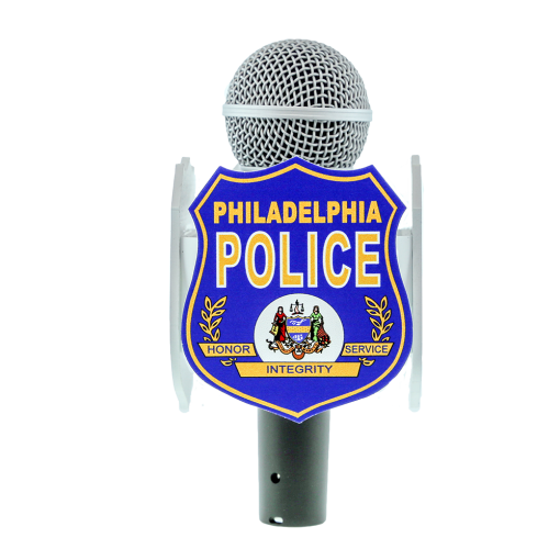 PHILADEPHIA POLICE CUSTOM MIC FLAG